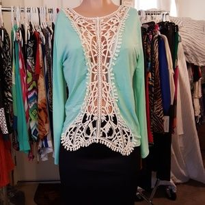 Lime Green Long Sleeve Top
